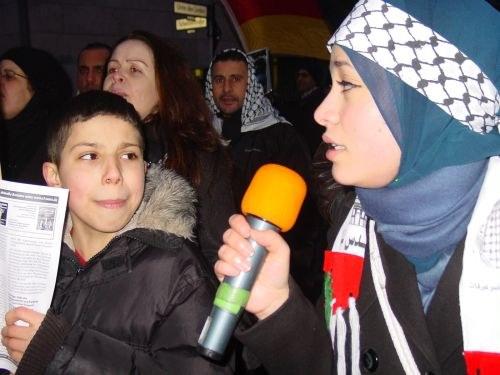 Massendemonstration der Solidarität mit dem palästinensischen Volk!