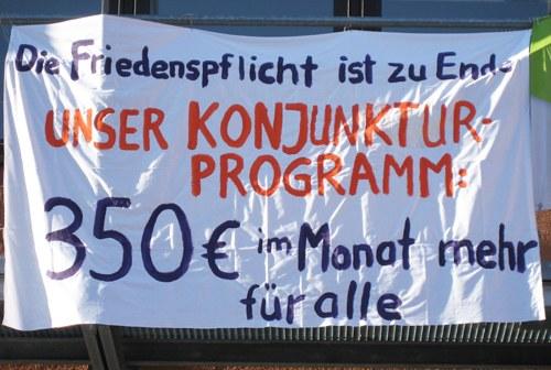 """""""Unser Konjunkturprogramm: 350 Euro für alle, 160 für die Azubis!"""""""