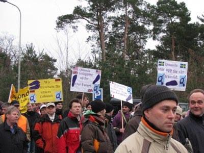 3.000 bei Demonstration gegen die Schließung des Qimonda-Werkes Dresden