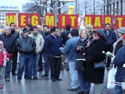 Montagsdemonstration solidarisiert sich mit Kollegen von Deutschen Paketdienst (DPD)