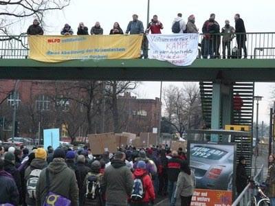 Demonstration der Dresdner Qimonda-Beschäftigten: Intensives Ringen um weiteren Weg des Kampfs