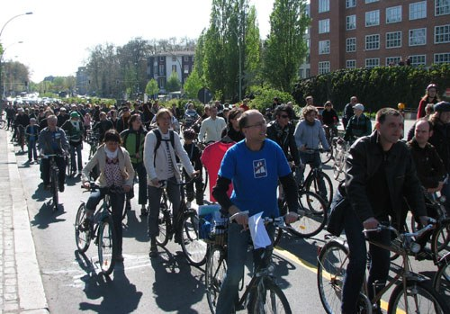 Berlin: Demo gegen die Verlängerung der Autobahn