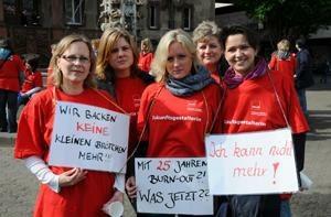 Kämpferischer Auftakt der Kita-Streiks - ab Dienstag geht´s in die nächste Runde