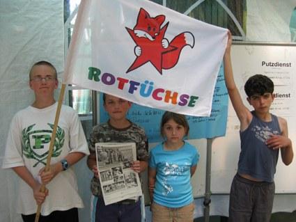 Das Kindercamp unterstützt den Aufbau des REBELL in Malchow