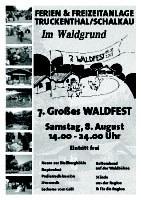 7. großes Waldfest in Truckenthal!