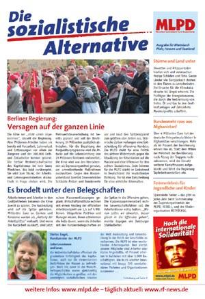 Die Wahlzeitung der MLPD ist unterwegs
