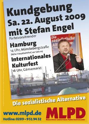 Flyer zur Kundgebung am 22. August in Hamburg erschienen