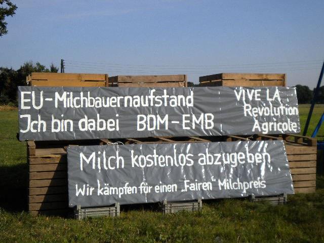 Europaweite Proteste der Milchbauern