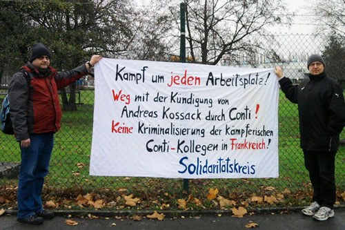 Erfolgreiche Solidaritätskundgebung vor Conti in Dortmund