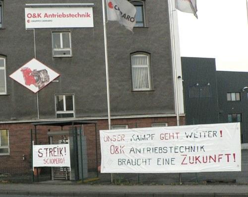 26-stündiger Streik bei O&K Antriebstechnik in Hattingen