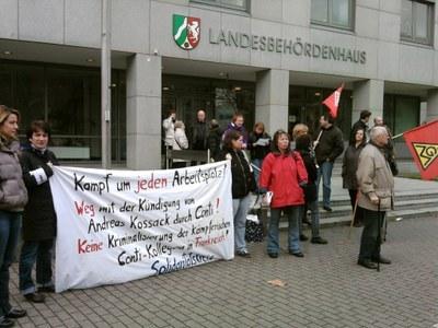 40 Besucher empört über Abweisung der Klage von Andreas Kossack