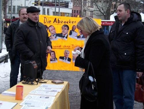 Montagsdemo-Splitter vom 1. Februar: Protest gegen die wirklichen Abzocker