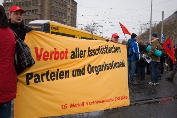 Breite antifaschistische Aktionseinheit verhindert in Dresden Aufmarsch von Neofaschisten