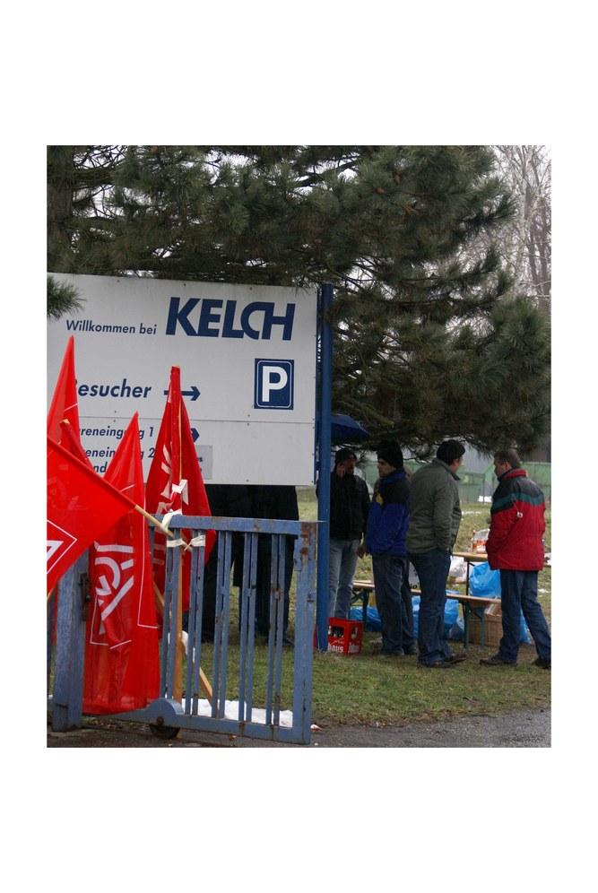 Kelch/Schorndorf: Blockade des Werkstors