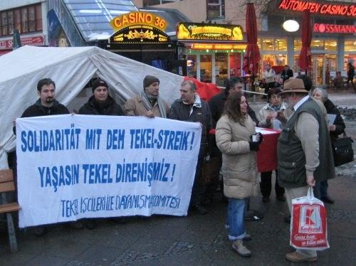 Solidaritätsdemo mit den TEKEL-Arbeitern am 28. Februar in Berlin