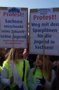 Jugendprotest in Dresden gegen Kürzungen