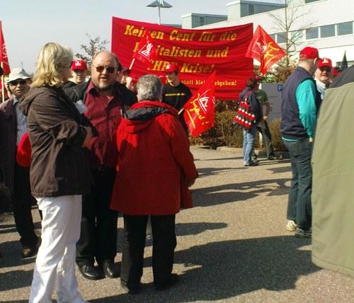 IG-Metall-Aktionstag der Getrag-Belegschaften in Untergruppenbach