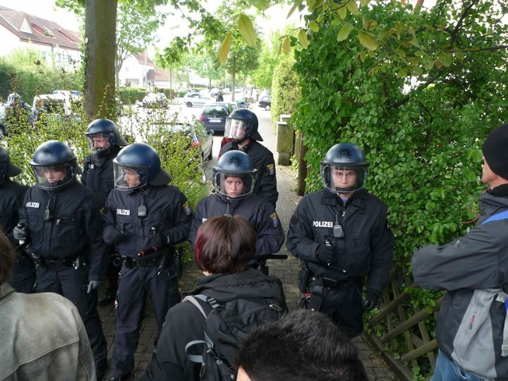 Polizeiterror gegen Wiesbadener Antifaschisten