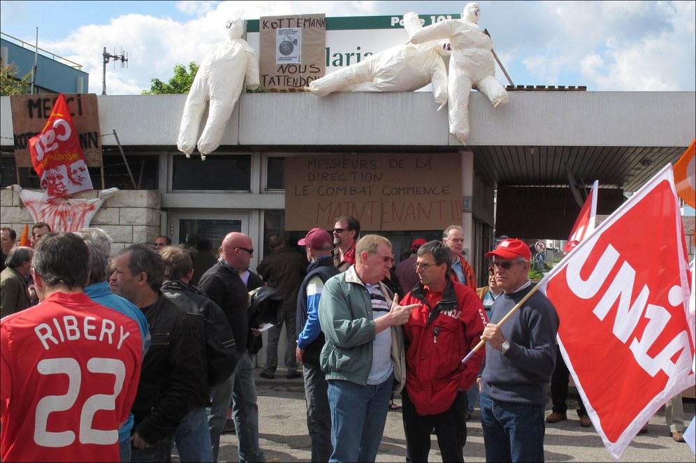 Streik in der Chemiefabrik Clariant