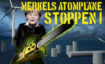 Bereits über 69.000 erklären sich innerhalb von drei Tagen gegen Berliner Atompolitik