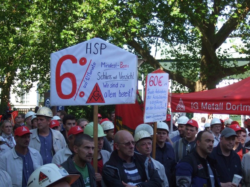 22.09.10 - Erste Warnstreiks in der Stahlindustrie