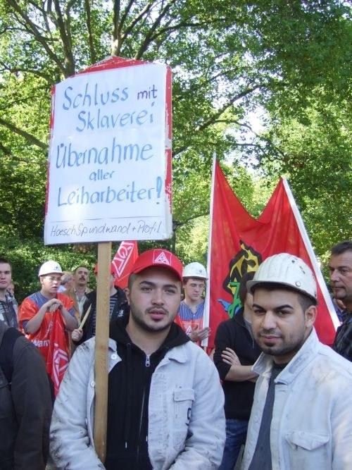 """Kämpferischer Warnstreik-Auftakt der Stahlarbeiter: """"6 Prozent - sonst Streik!"""""""