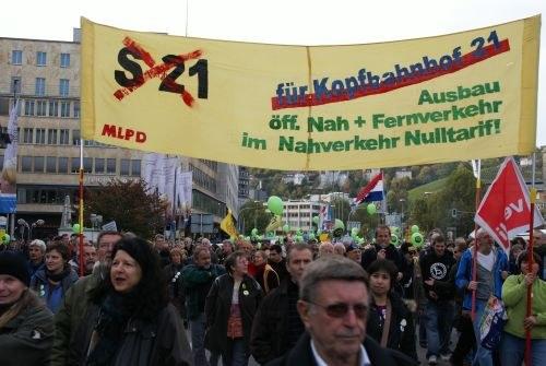"""Erneut 50.000 gegen """"Stuttgart 21"""" - trotz Schlichtung und angeblicher """"Friedenspflicht"""""""