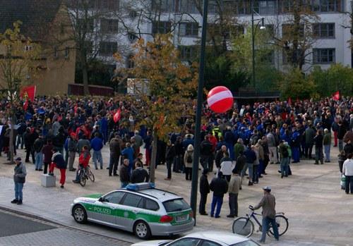 """Proteste gegen """"Rente mit 67"""" in Schweinfurt und Berlin"""