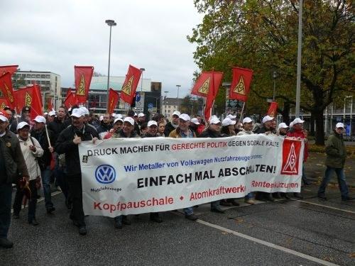 """15.000 bei DGB-Demo in Hannover - weiteres kämpferisches Signal für einen """"heißen Herbst"""""""