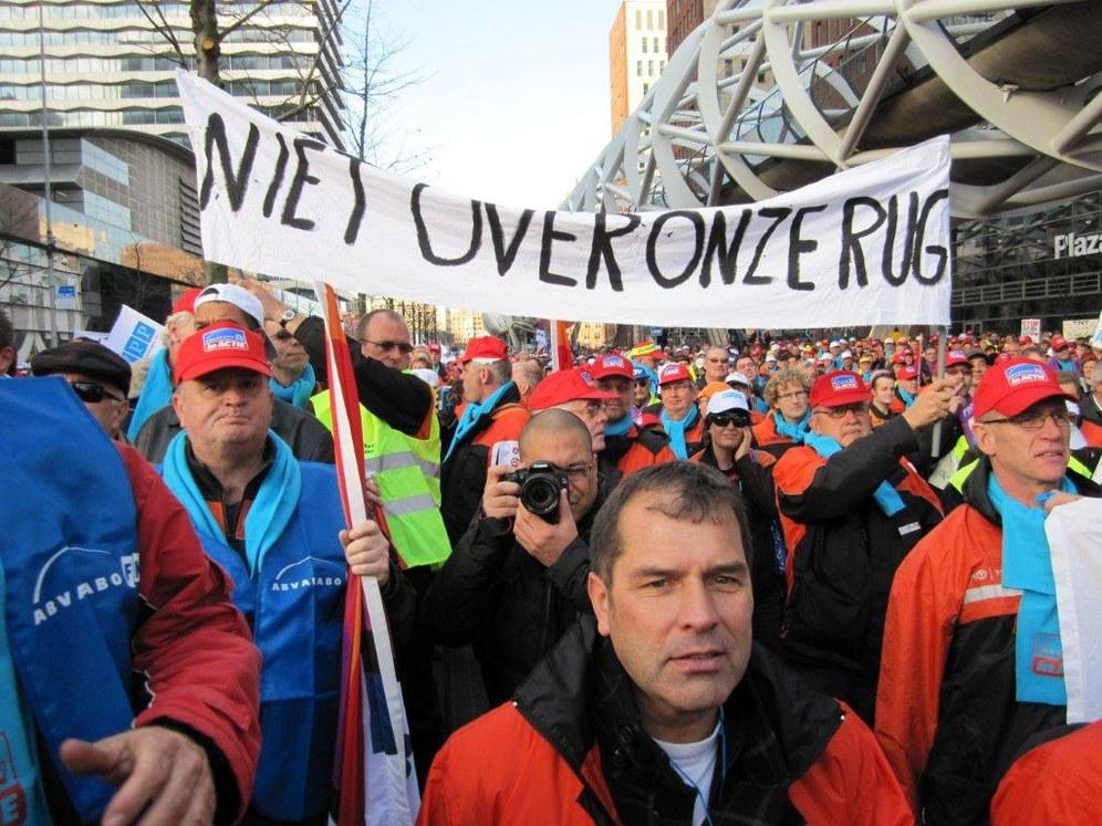 Streik der TNT-Beschäftigten-Beschäftigten in Amsterdam