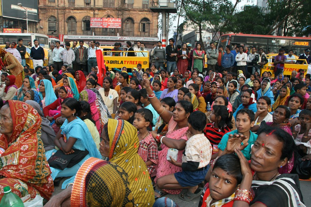 Bewegung der kämpferischen Basisfrauen in Indien im Aufschwung