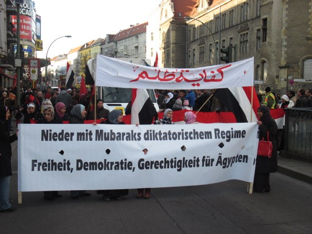 Heutige Solidaritätsaktionen: Jubel über den Sieg des ägyptischen Volkes
