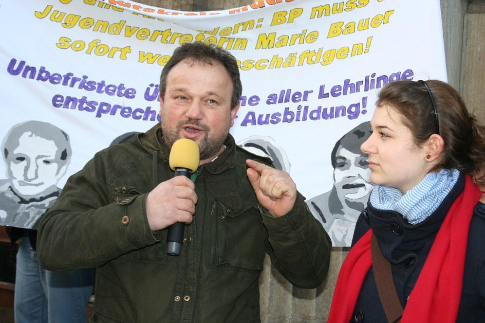 Solidarität gegen politische Diskriminierung von Arbeitervertretern