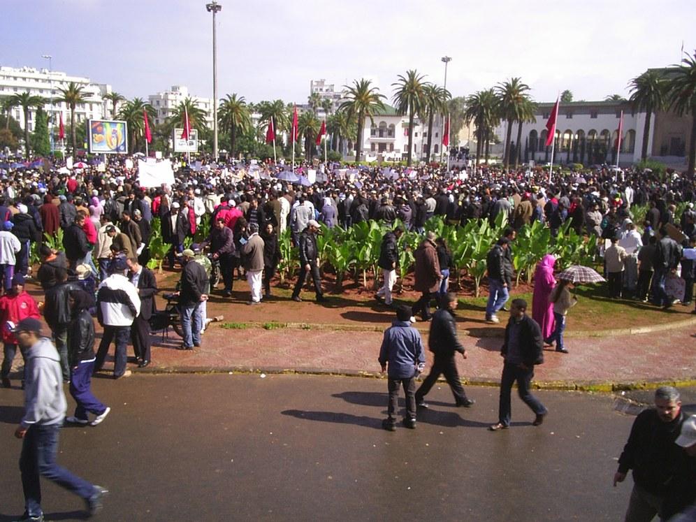 22.02.11 - Drei Millionen in Marokko auf der Straße