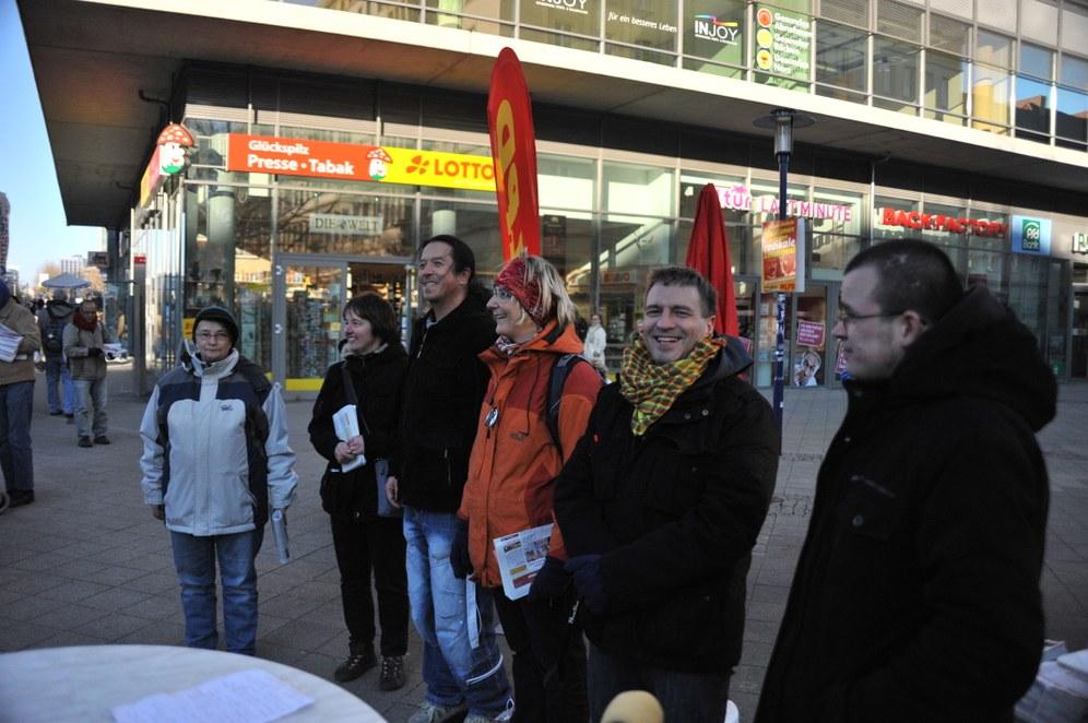 Kein Kuschelwahlkampf mit der MLPD - Wahlkampfauftakt der MLPD/offene Liste in Sachsen-Anhalt