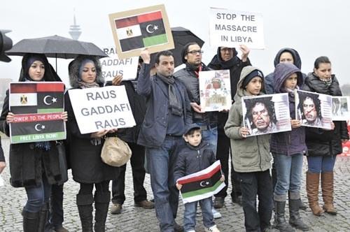 Kämpferische Demonstration zur Solidarität mit dem Volksaufstand in Libyen
