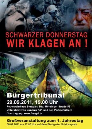 """Bürgertribunal zum """"Schwarzen Donnerstag"""" in Stuttgart"""