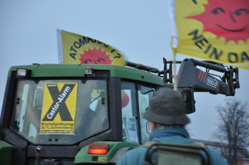 Demonstration gegen Castor-Transport in Dannenberg mit internationaler Beteiligung