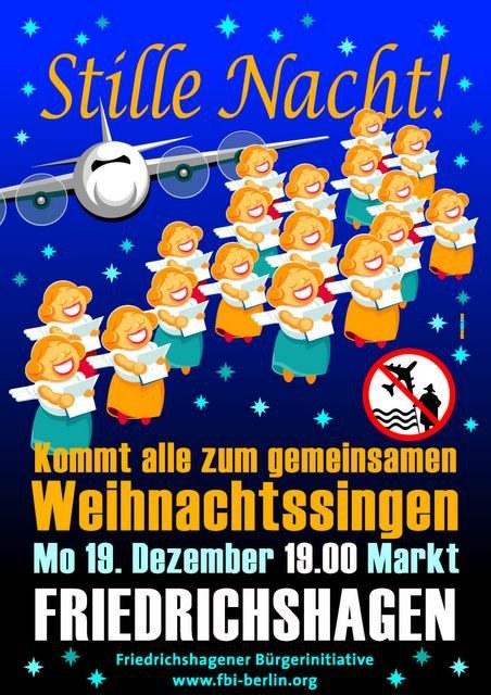 """""""Stille Nacht"""" auf der heutigen Montagsdemo gegen Fluglärm"""