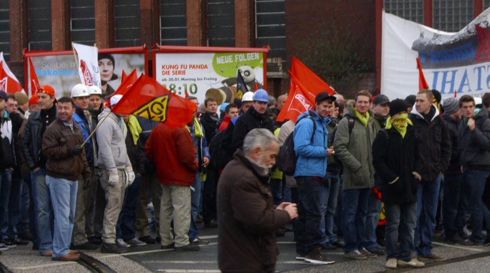 Größte Arbeiterdemonstration seit langem im Ruhrgebiet