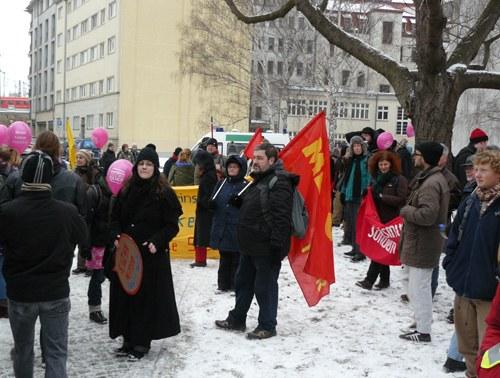 Antifaschistische Blockaden in Dresden erfolgreich