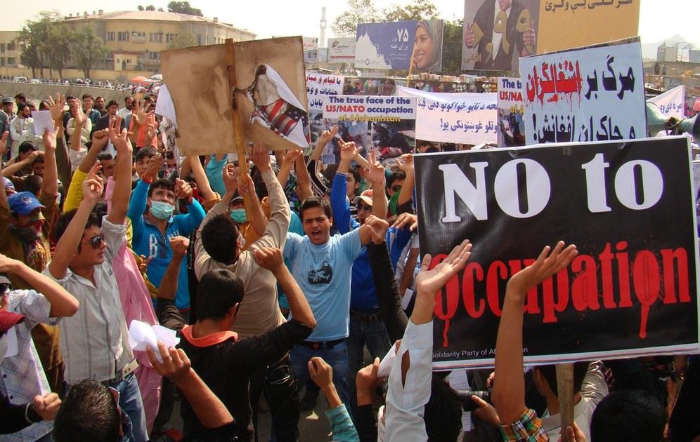 Auch in Afghanistan: Massenproteste gegen die Besatzer, für Freiheit und Demokratie