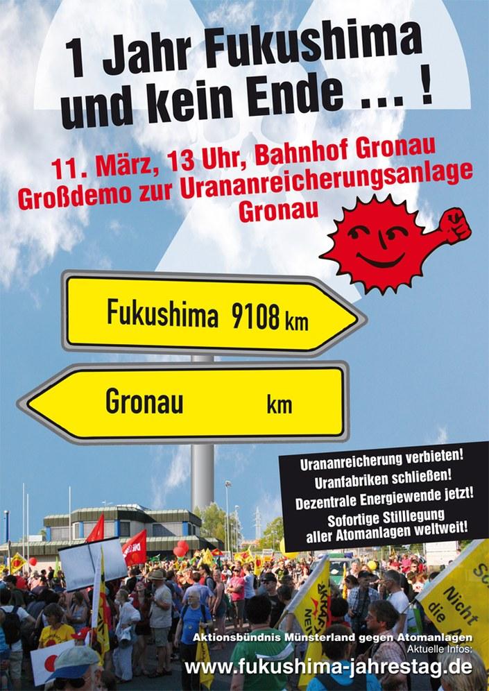 Infos zur Fukushima-Großdemo am 11. März