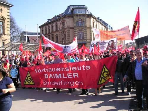 Mehr als 5.500 Metaller demonstrierten durch Ludwigsburg