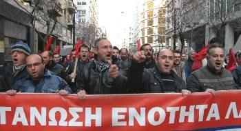Griechische Stahlarbeiter streiken seit über 150 Tagen - Symbol des wachsenden Kampfwillens im griechischen Volk