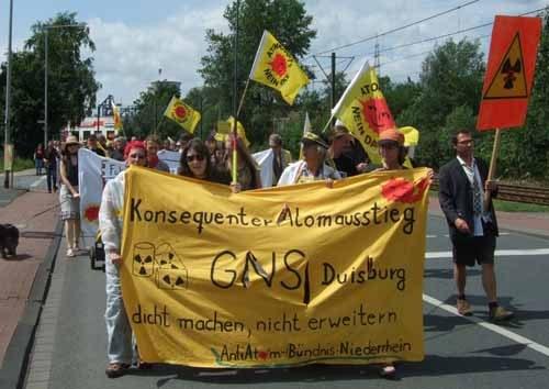 Protest gegen Atomanlage mitten in Duisburg