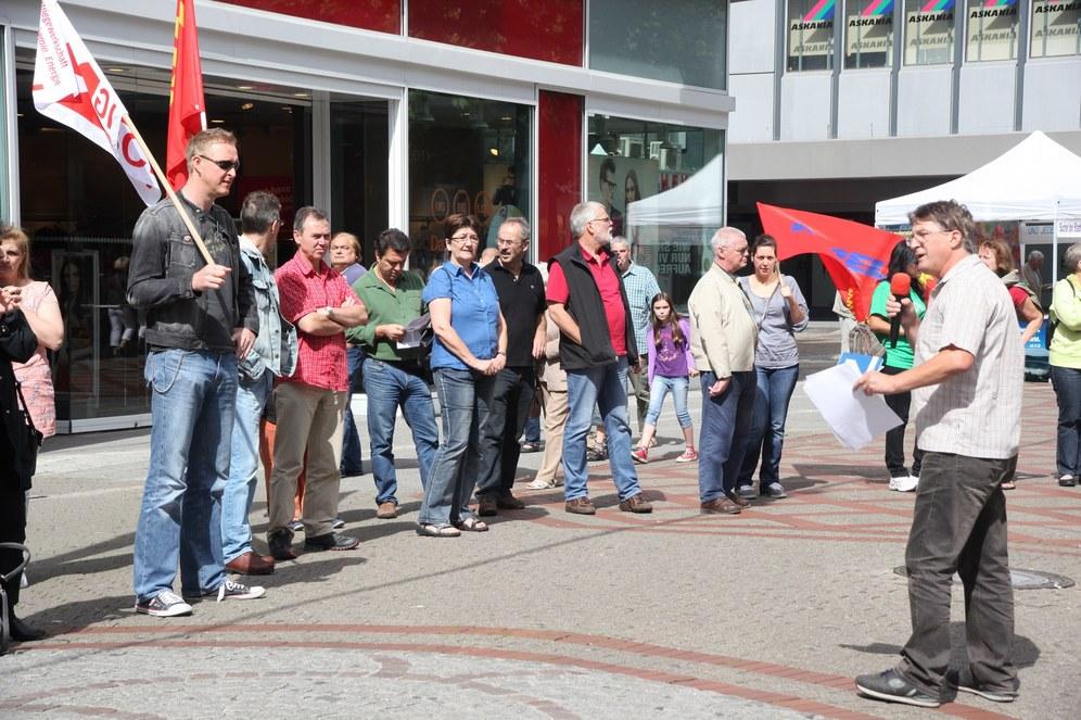 Grüße aus Griechenland an die Protestkundgebung in Gelsenkirchen