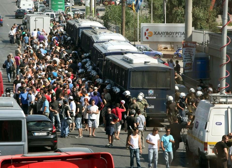 Weitere Solidaritätsaktionen mit den griechischen Stahlarbeitern in Griechenland und Europa geplant