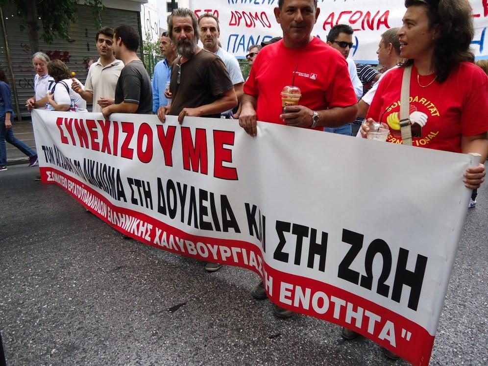 Proteste gegen Merkel in Athen