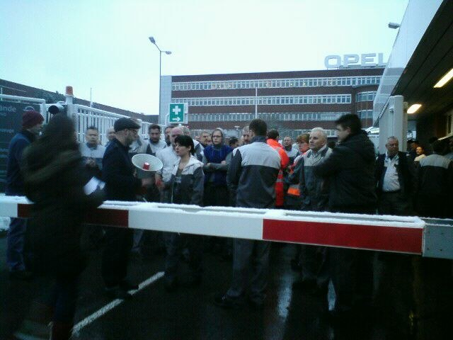 Arbeitskampf bei Opel in Bochum beginnt